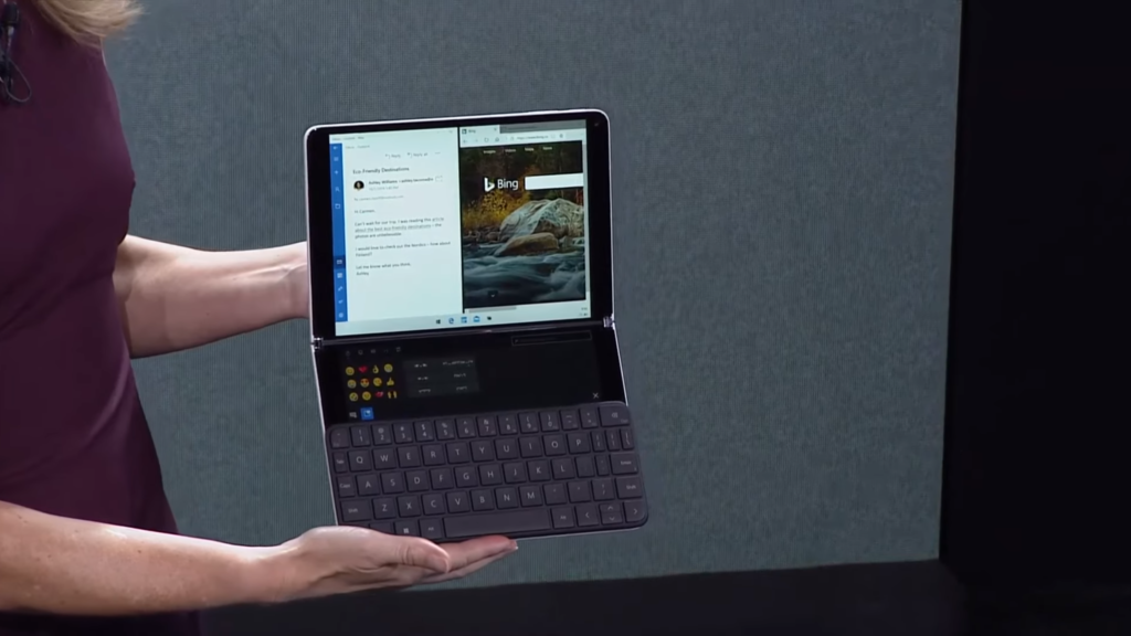 microsoft surface neo keyboard unveil