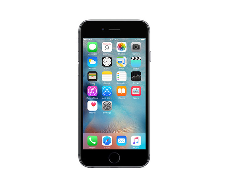 Apple iPhone 6s Plus, Silver, Front