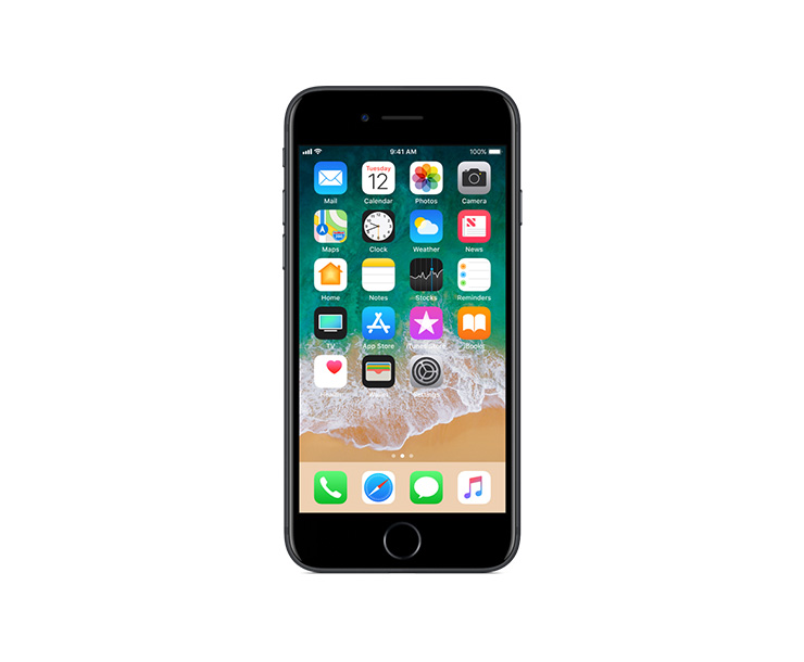 Apple iPhone 7, Black, Front