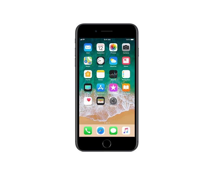 Apple iPhone 7 Plus, Black, Front