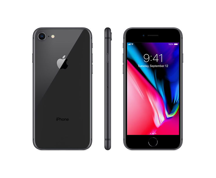 Apple iPhone 8, Black, Complete