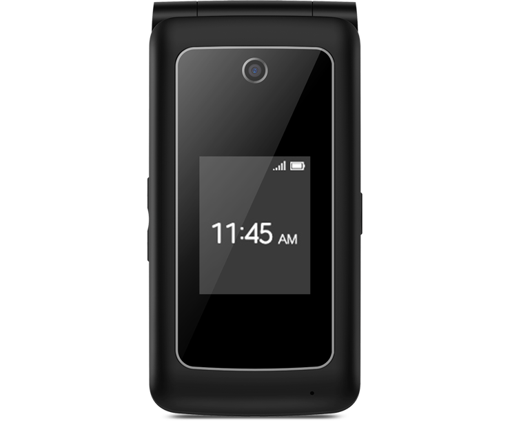 Coolpad Snap, Black, Front, Flip Phone