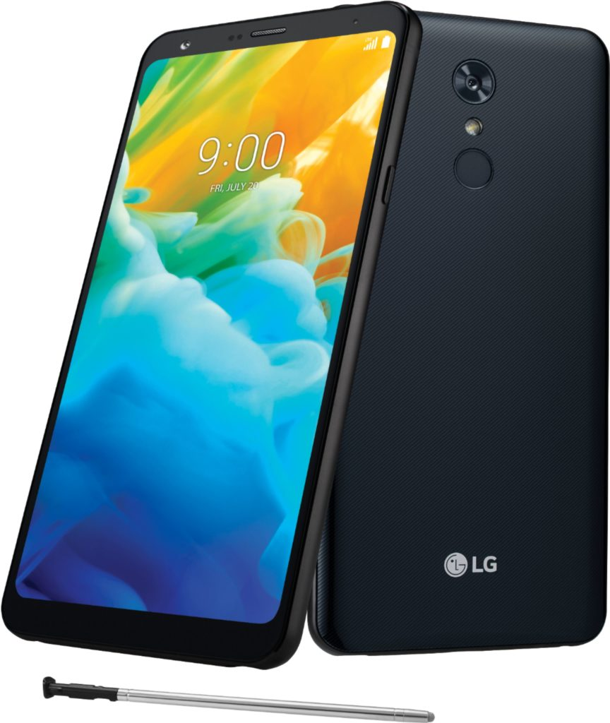 Virgin Mobile Phones, LG Stylo 4, Black, Front & Back