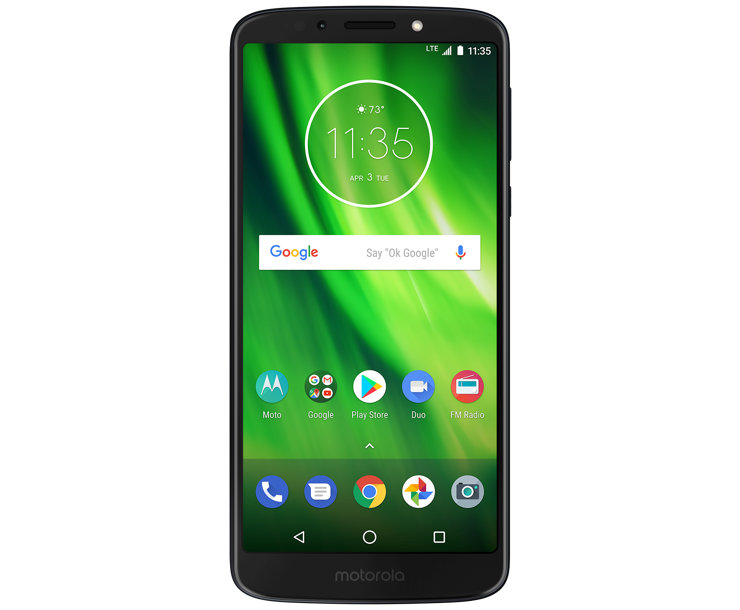 Moto G6 Play, Black, Front
