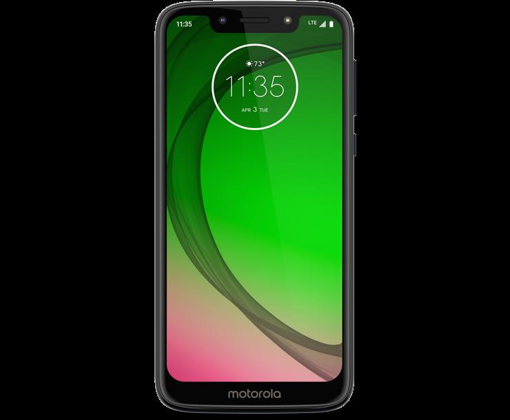 Virgin Mobile Phones, Moto G7 Play, Black, Front