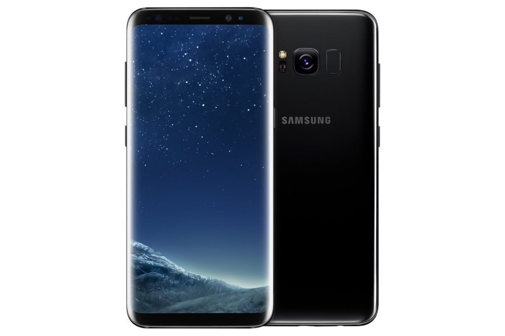 virgin mobile phones, Samsung Galaxy S8, Back, Black