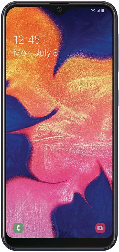 Virgin Mobile Phones, Samsung Galaxy A10e, Black, Front