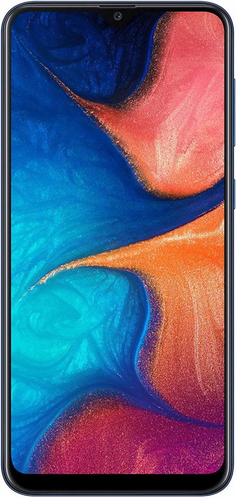 Virgin Mobile Phones, Samsung Galaxy A20, Black, Front