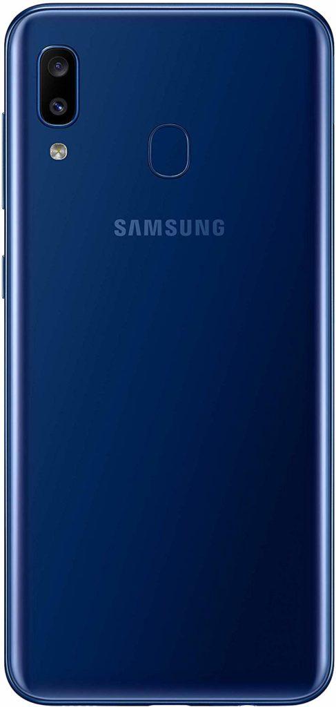 Virgin Mobile Phones, Samsung Galaxy A20, Black, Back