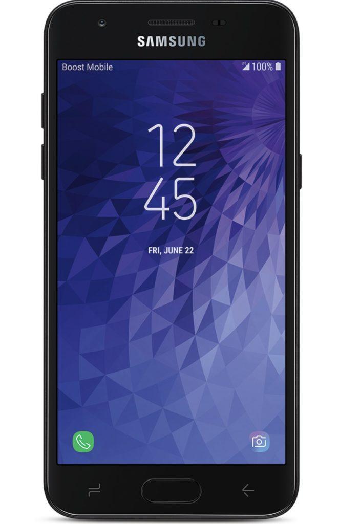 Virgin Mobile Phones, Samsung J3 Achieve, Black, Front